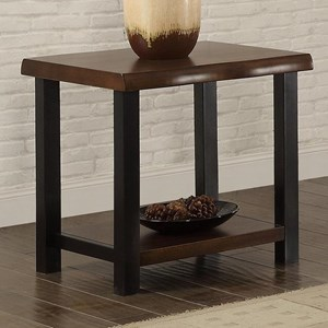 Live Edge End Table with Metal Legs