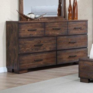 Solid-Wood Rustic Dresser