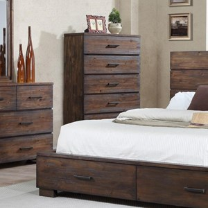 Solid-Wood Rustic Chest of Drawers