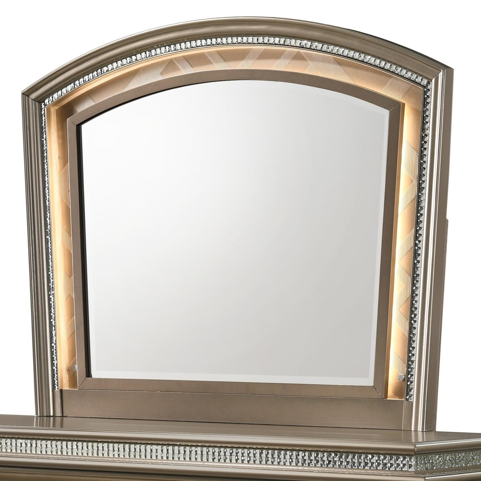 Cristal Dresser Mirror by Crown Mark at Northeast Factory Direct