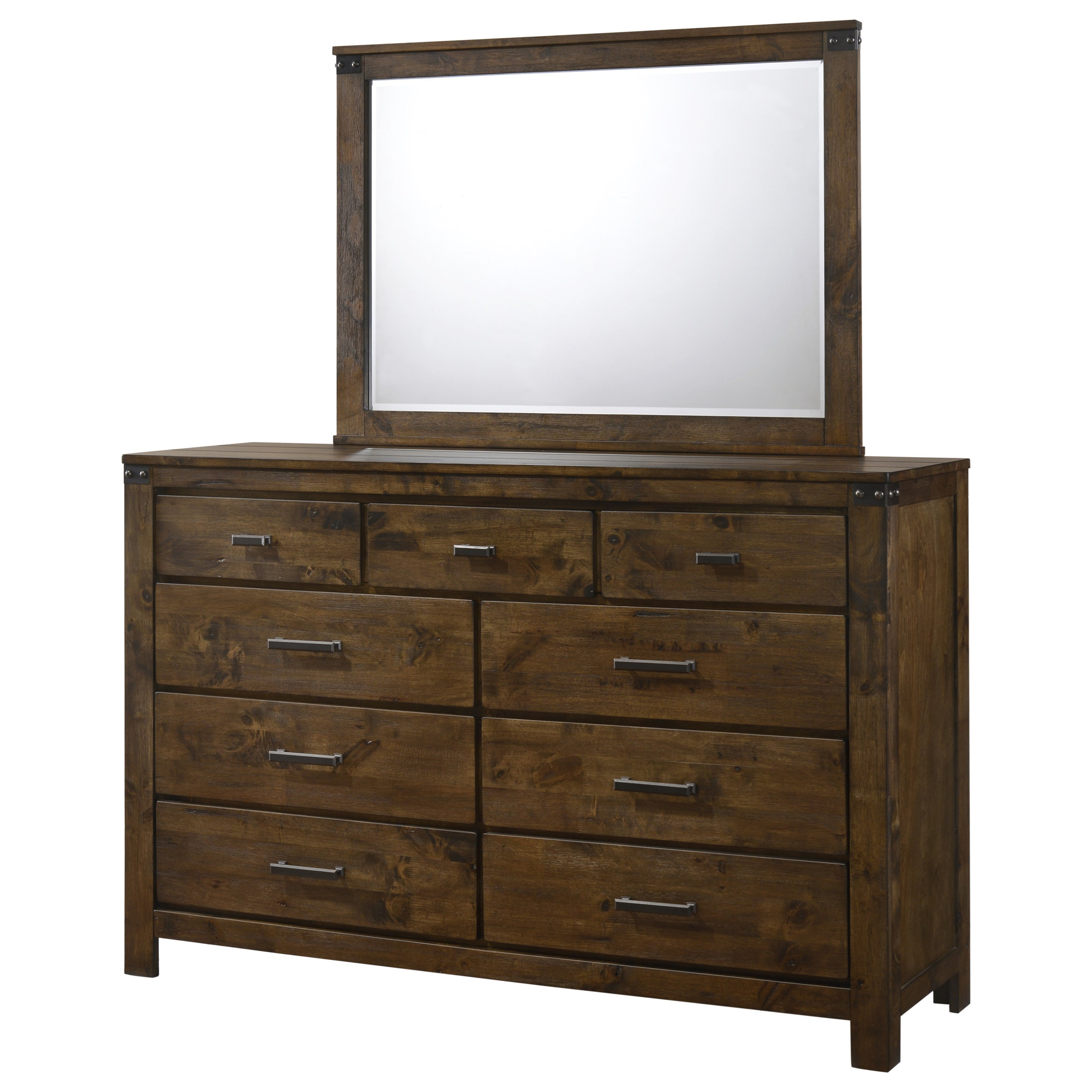 Curtis Dresser and Mirror Combo by Crown Mark at Northeast Factory Direct