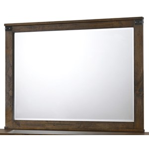 Rustic Beveled Dresser Mirror