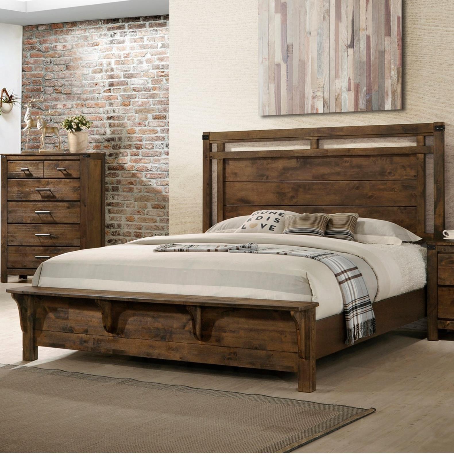 Curtis King Panel Bed by Crown Mark at Bullard Furniture