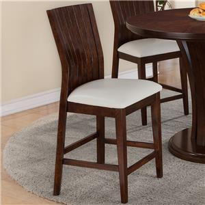 Counter Height Chair with Upholstered Seat