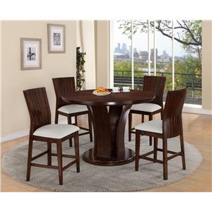 Round Pub Height Dining Table and Stool Set