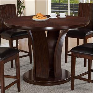 Contemporary Counter Height Round Table with Pedestal Base