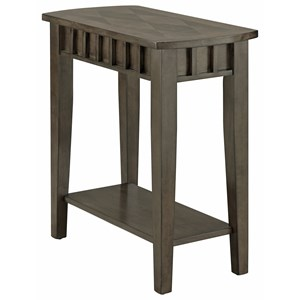 Transitional Chairside Table with Bottom Shelf