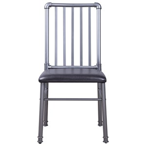 Industrial Dining Side Chair with Metal Legs
