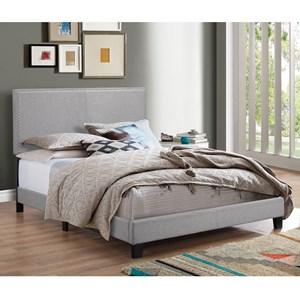 Full Upholstered Headboard Bed