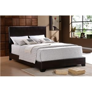 Faux Leather Twin Bed