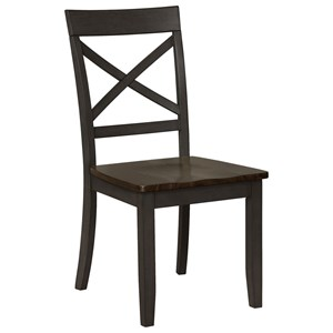 Side Chair with X Seat Back