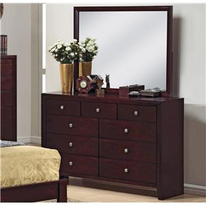 9 Drawer Dresser and Mirror Combination
