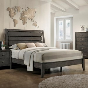 King Bed with Headboard Cutouts