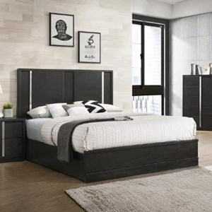 Contemporary Queen Low Profile Bed