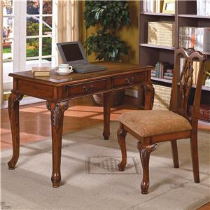 Traditional Home Office Desk & Chair Set