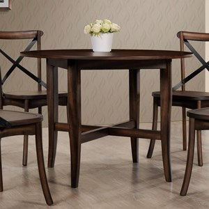 Dining Round Table with Stretcher Support