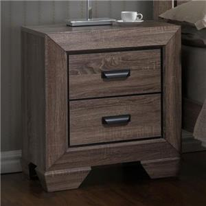 Contemporary Nightstand with Large Frame