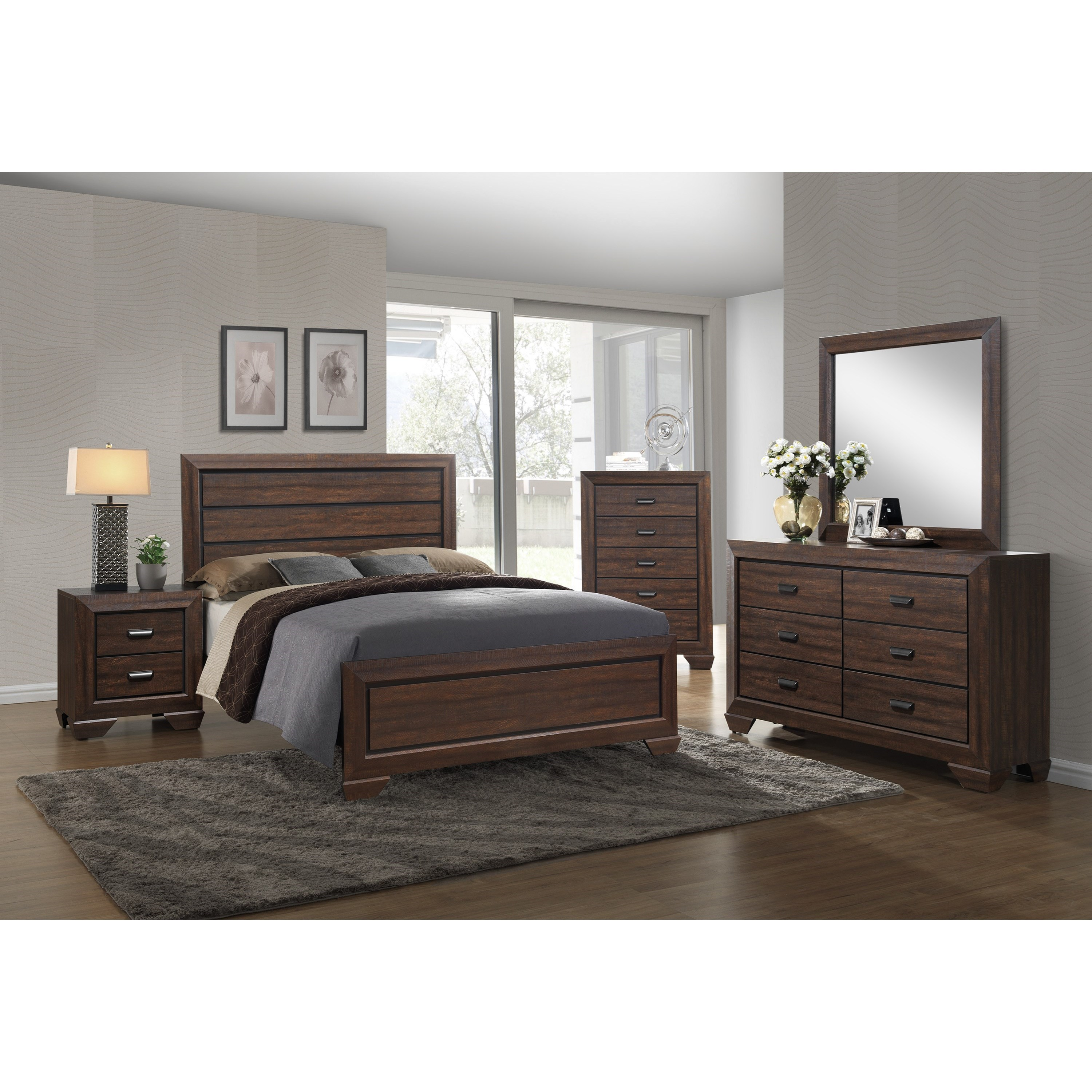 Farrow Full Bedroom Group by Crown Mark at Northeast Factory Direct