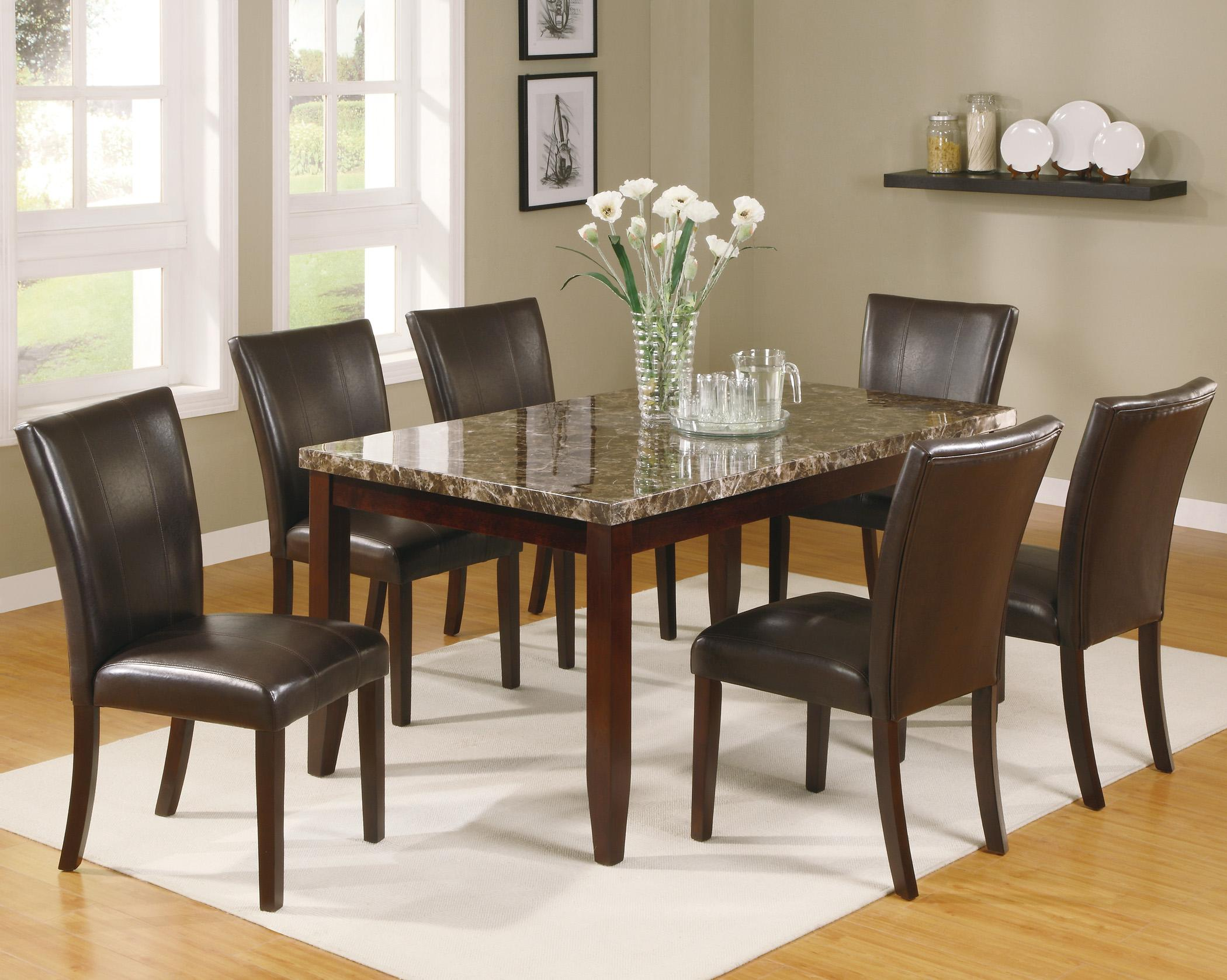 Ferrara 7 Piece Dining Table and Chairs Set by Crown Mark at Northeast Factory Direct