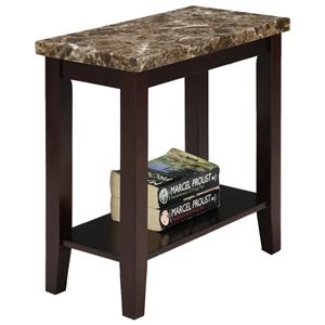Chairside Table with Lower Shelf
