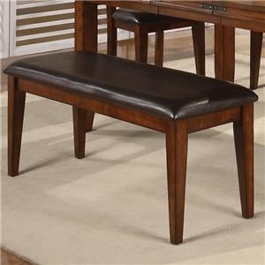 Dining Room Bench with Upholstered Seat
