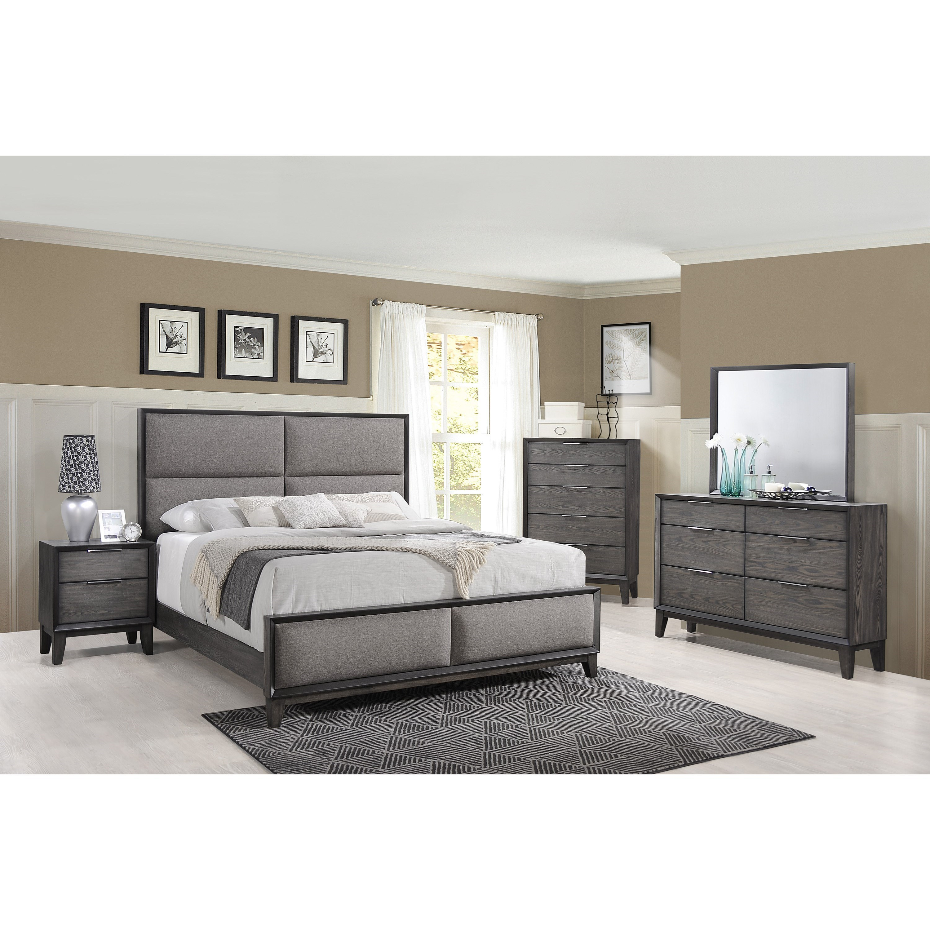 Florian King Bedroom Group by Crown Mark at Northeast Factory Direct