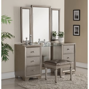 Vanity with Full Body Mirror