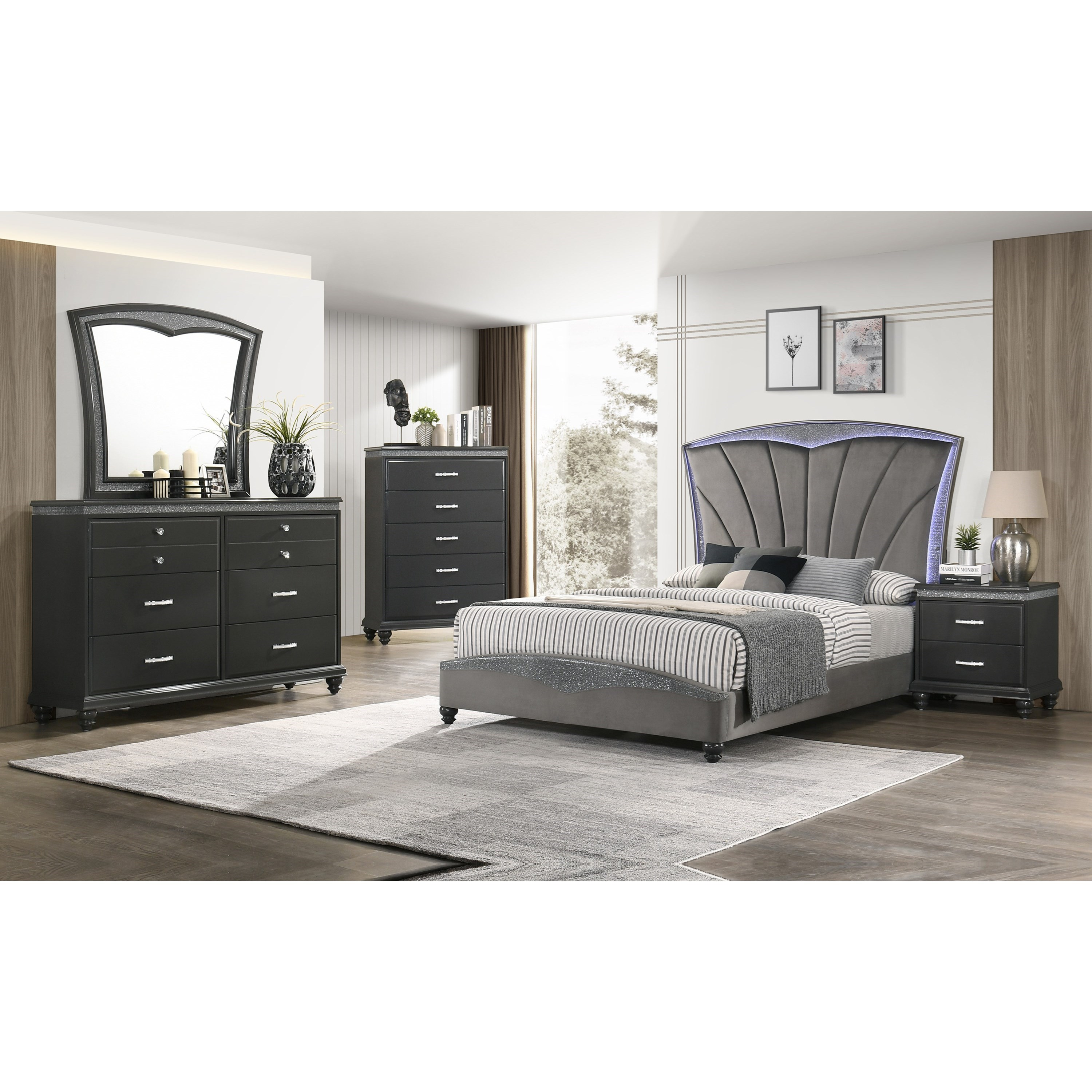 FRAMPTON Queen Bedroom Group by Crown Mark at Northeast Factory Direct