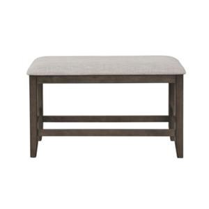 Counter Height Bench with Upholstered Seat