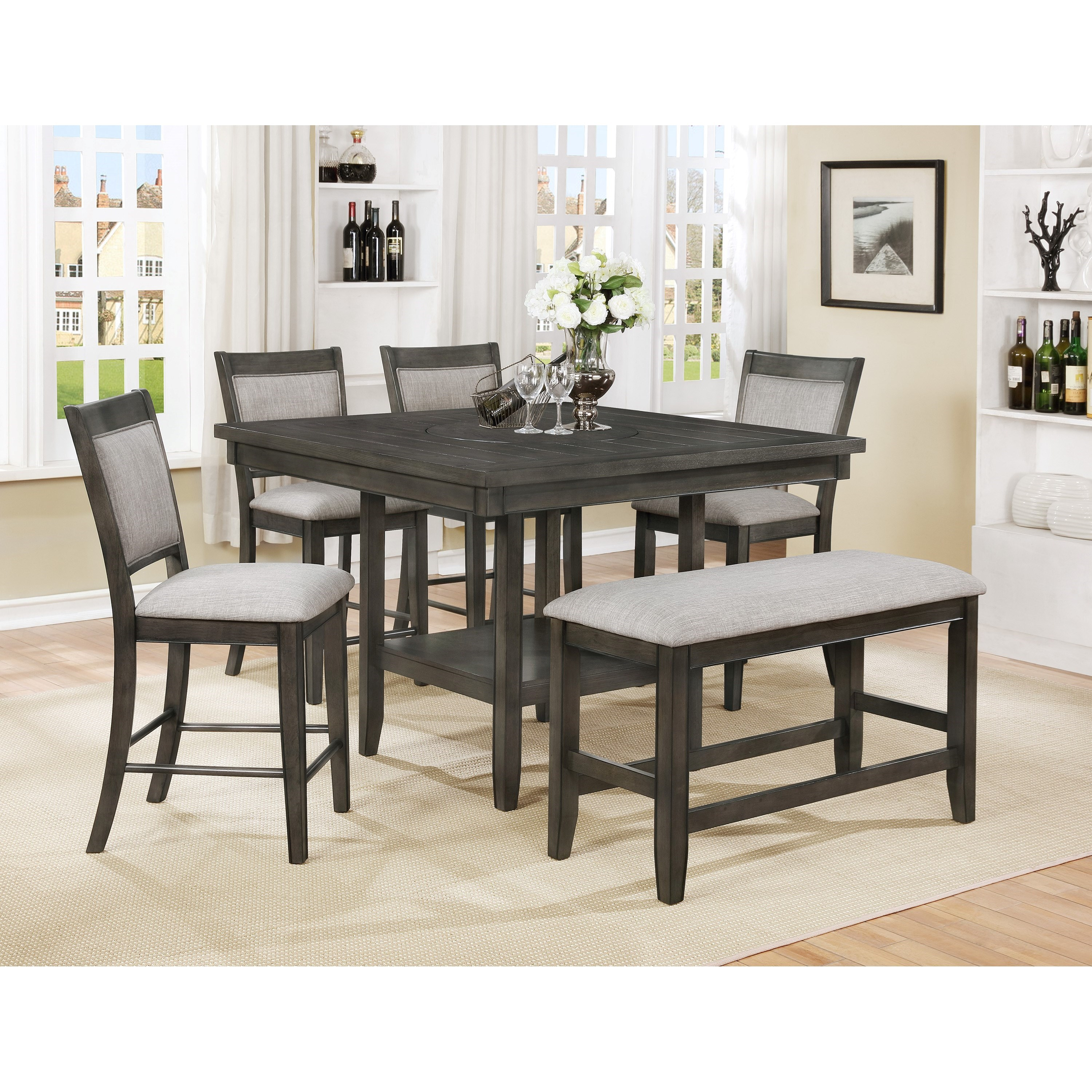 Bolton 6-Pc Counter Height Table, Chair & Bench Set at Rotmans