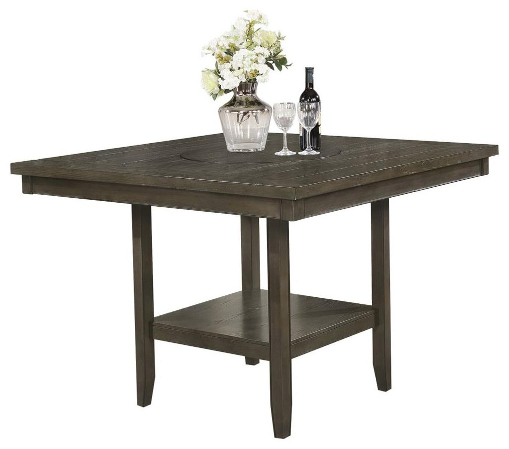 Franklin Counter Height Table with Lazy Susan by Royal Fair at Ruby Gordon Home