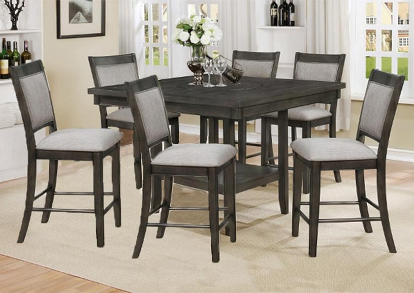 Bolton 7-Pc Counter Height Table & Chairs Set at Rotmans