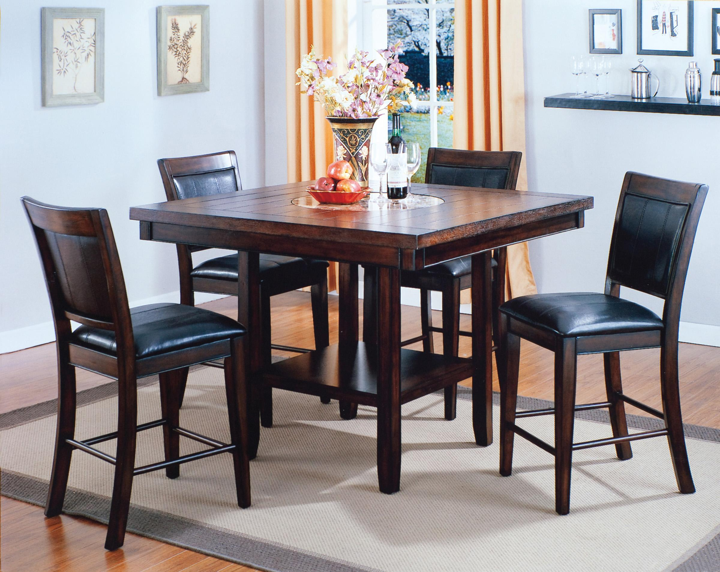 Fulton Counter Height Table and Chair Set by Crown Mark at Northeast Factory Direct