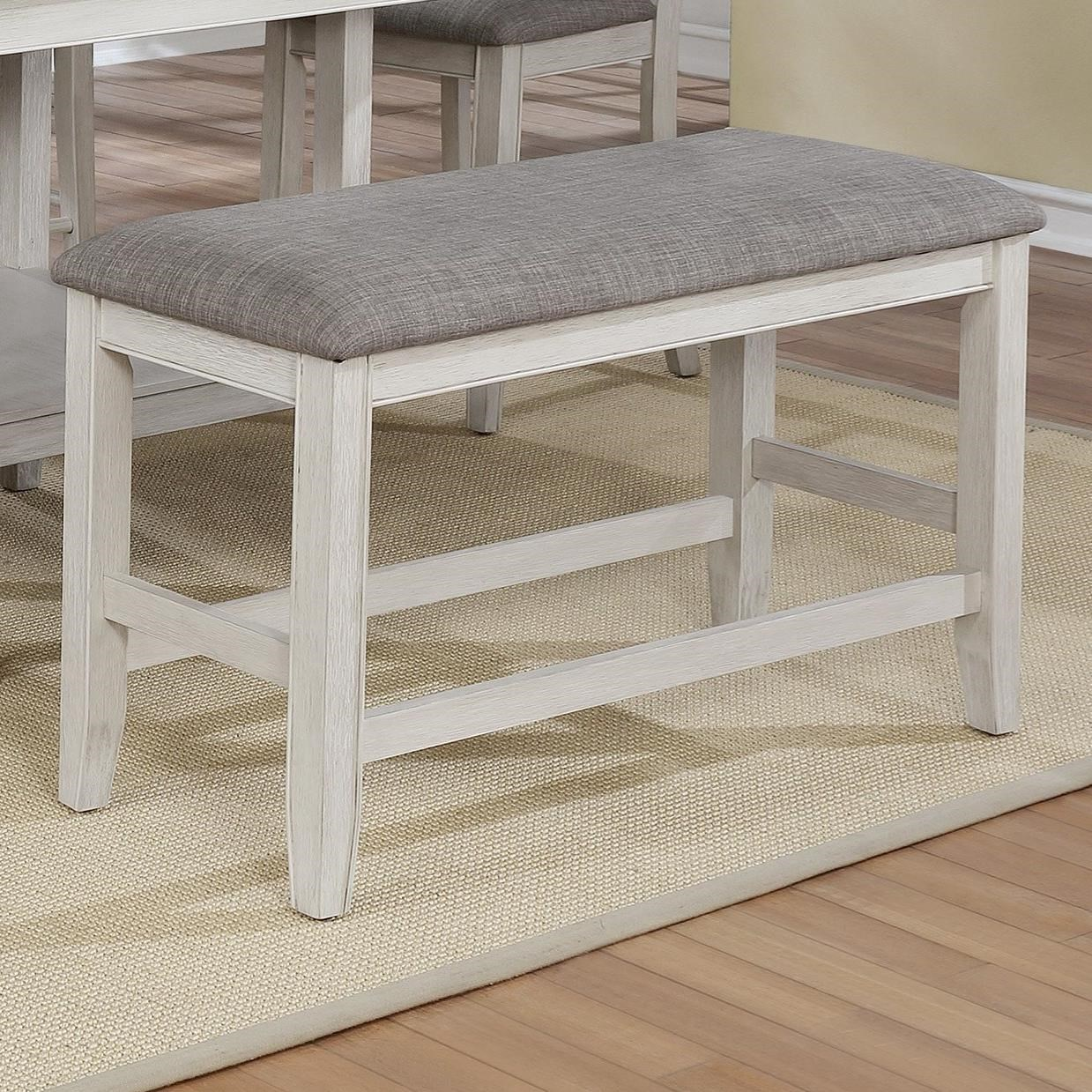 Fulton Counter Height Bench by Crown Mark at Northeast Factory Direct