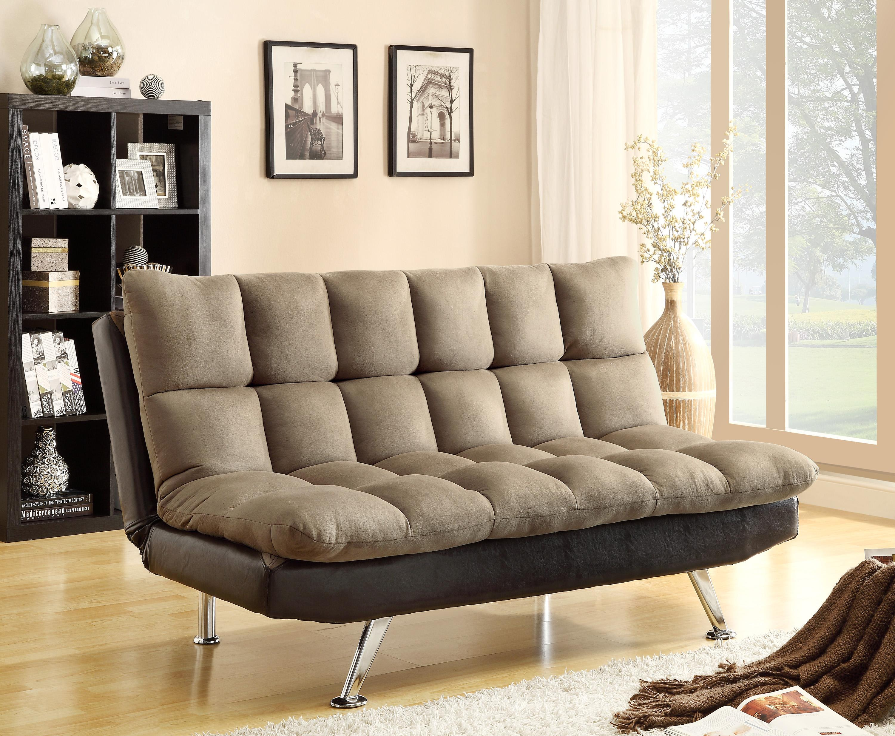 Futons & Daybeds Adjustable Sofa by Crown Mark at Darvin Furniture
