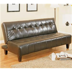 Adjustable Sofa with Exposed Tapered Wood Legs
