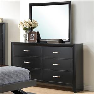 Crown Mark Galinda  Dresser & Mirror Combo