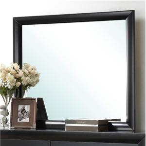 Rectangular Wood Dresser Mirror Top