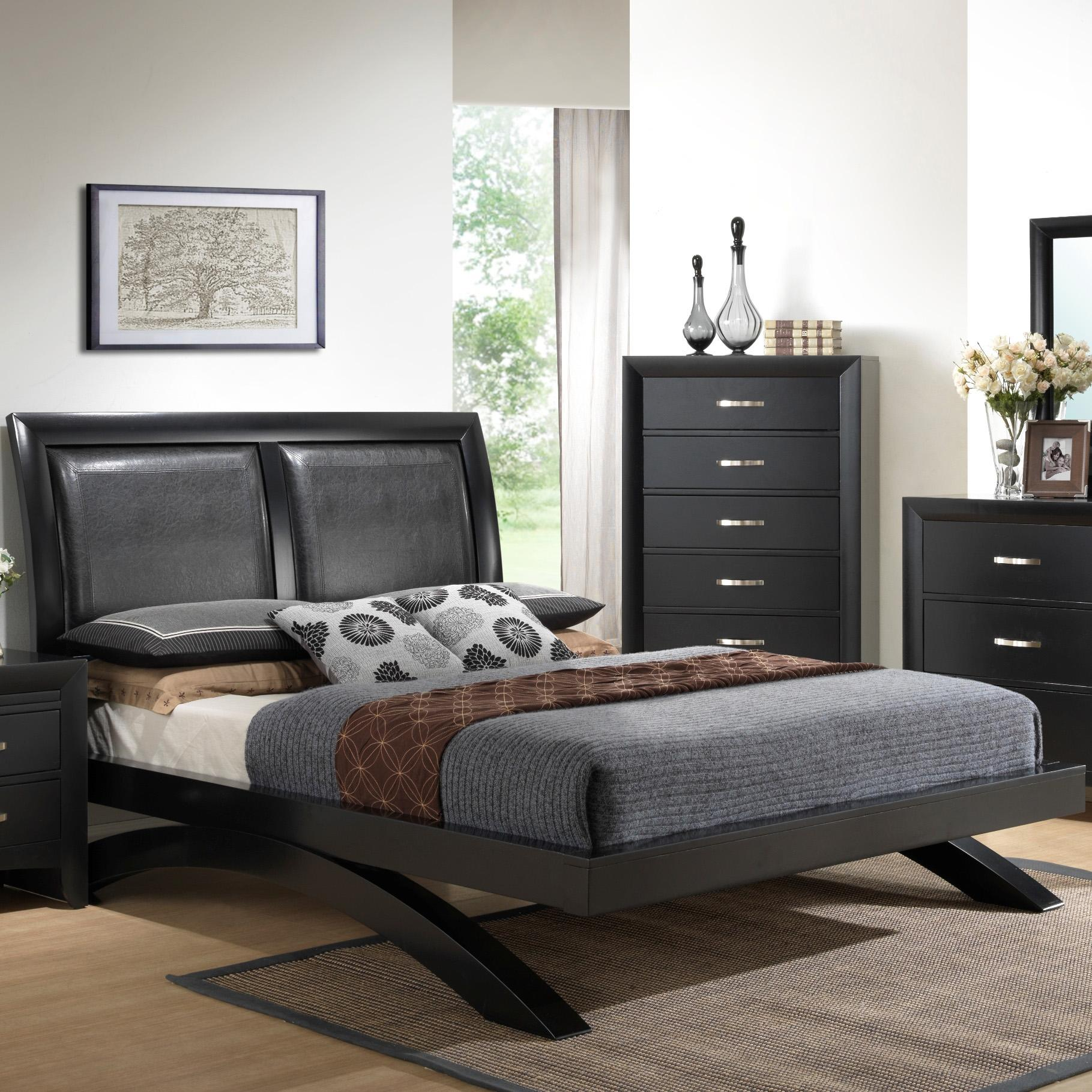 Galinda  Queen Headboard Bed by Crown Mark at Northeast Factory Direct