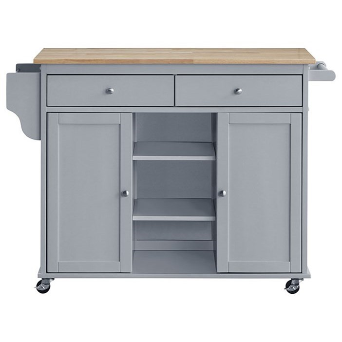 Grady Kitchen Island Cart by Crown Mark at Northeast Factory Direct