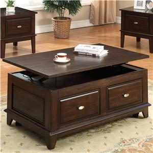 Lift-Top Coffee Table with Casters