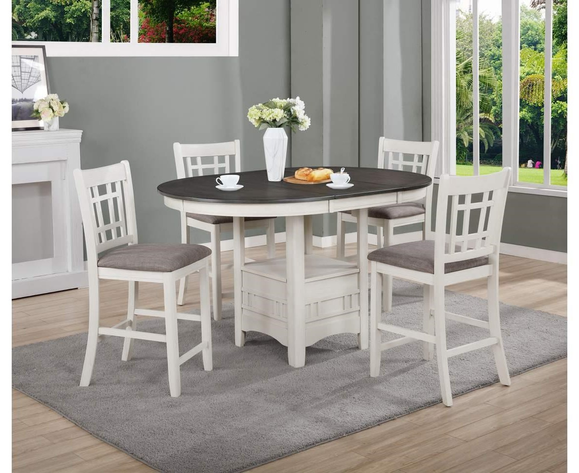 Hartwell 5 Piece Counter Height Dining Set by Crown Mark at Darvin Furniture