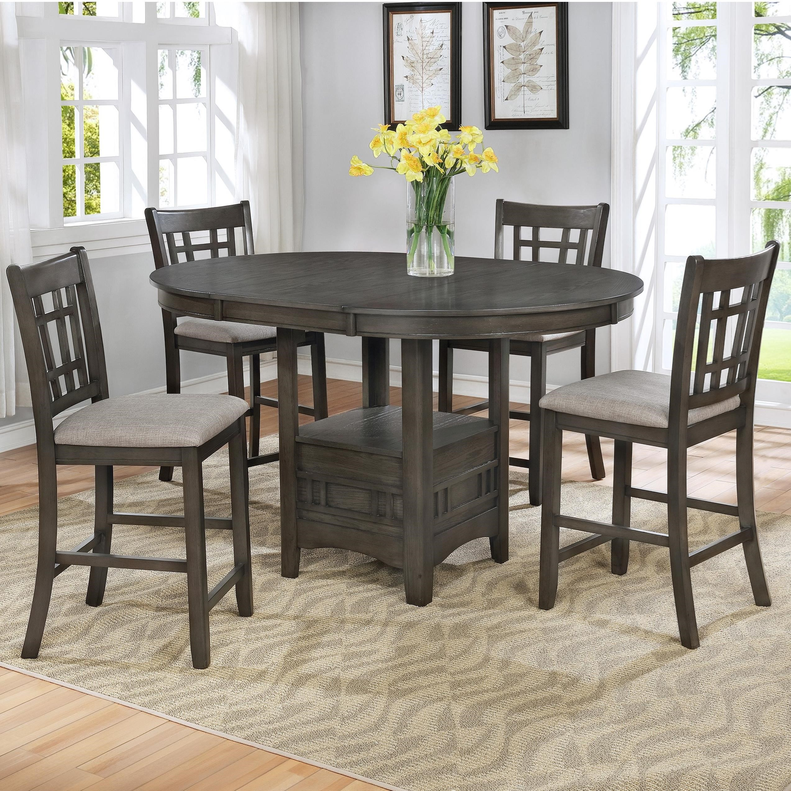 Hartwell 5-Piece Counter Table Set by Crown Mark at Darvin Furniture
