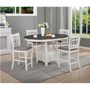 Transitional 5-Piece Counter Table Set