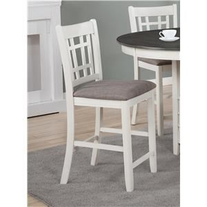 Transitional Counter Height Chair Stool