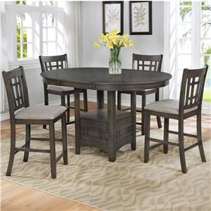 7 Piece Oval Counter Height Table and 6 Barstools Set