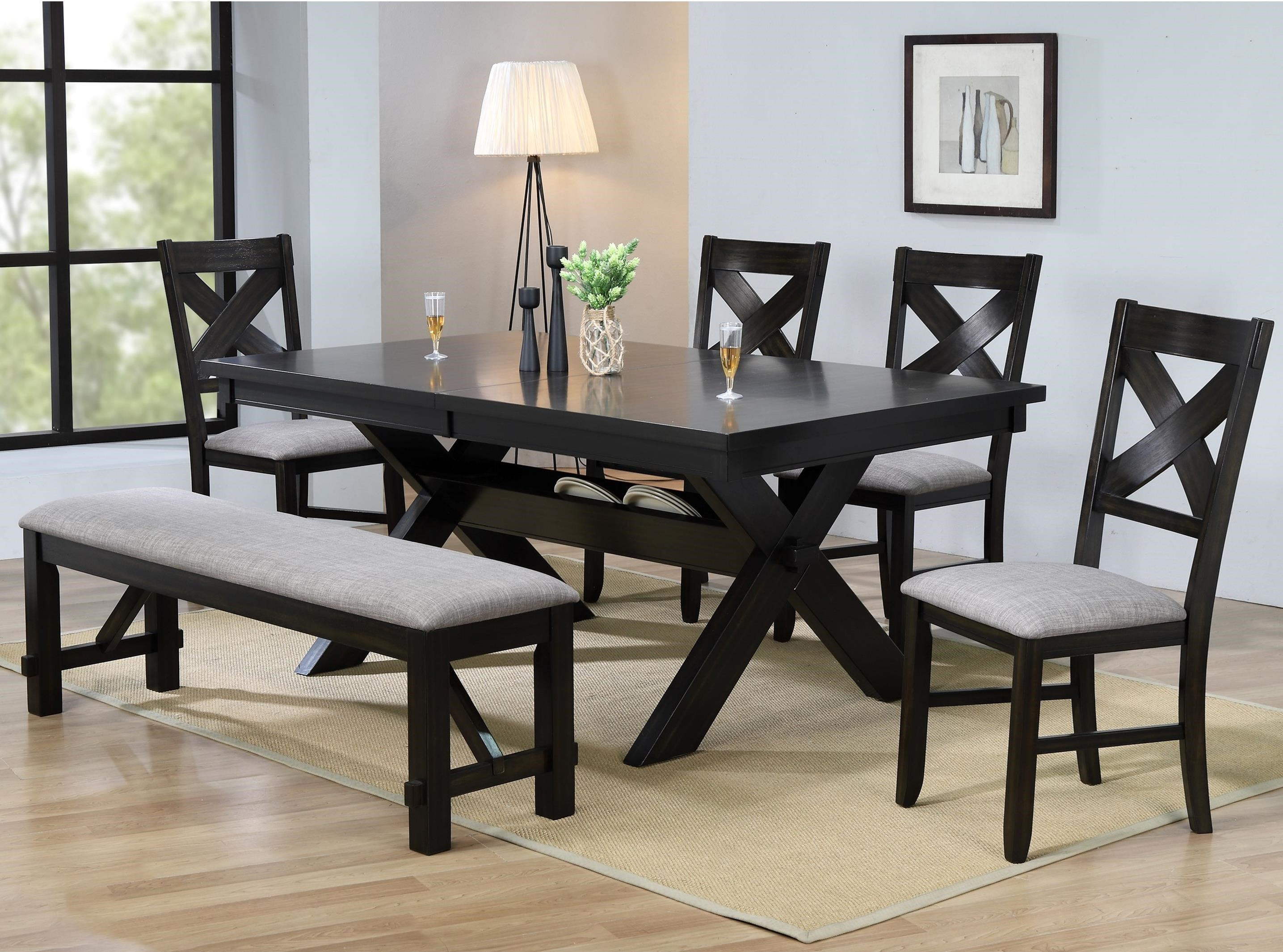 Havana 8 Piece Table & Chair Set by Crown Mark at Northeast Factory Direct