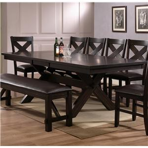 Rectangular Dining Table with Storage