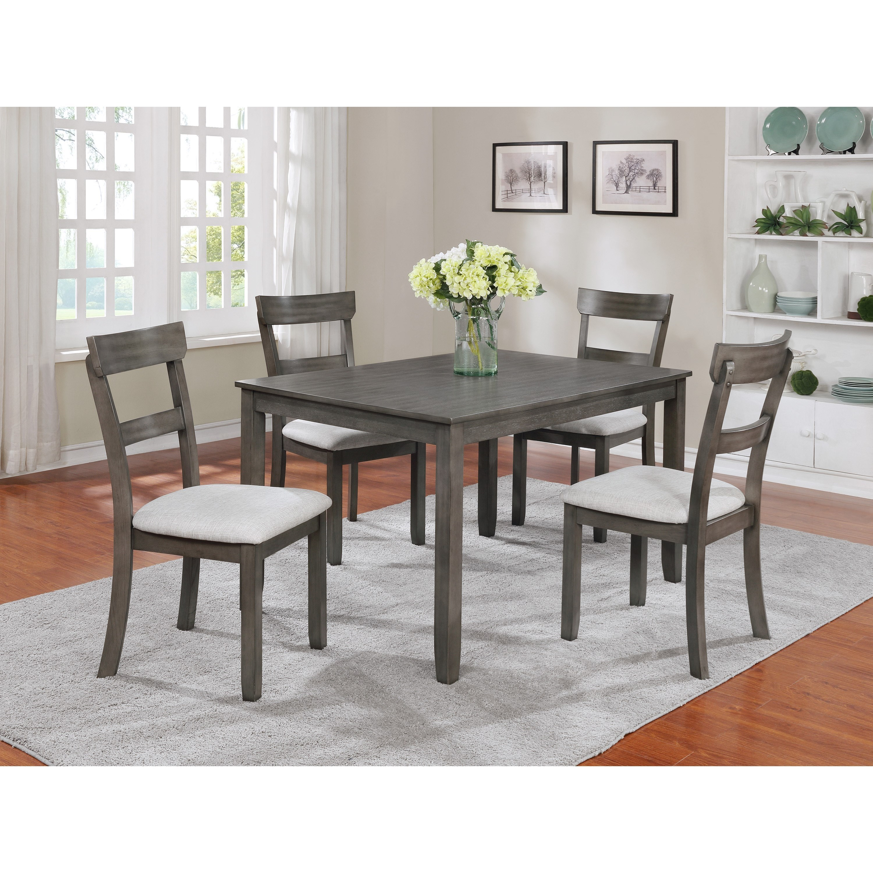 Henderson 5 Piece Dining Table Set by Crown Mark at Northeast Factory Direct