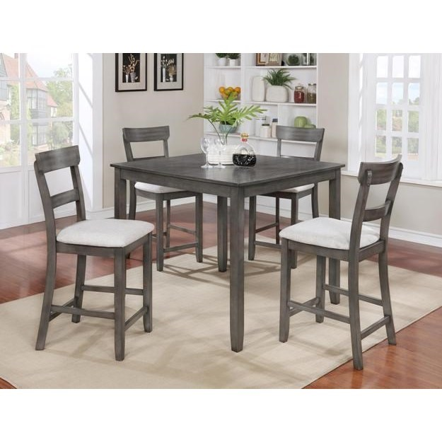 Henderson 5 Piece Counter Height Set by Crown Mark at Northeast Factory Direct